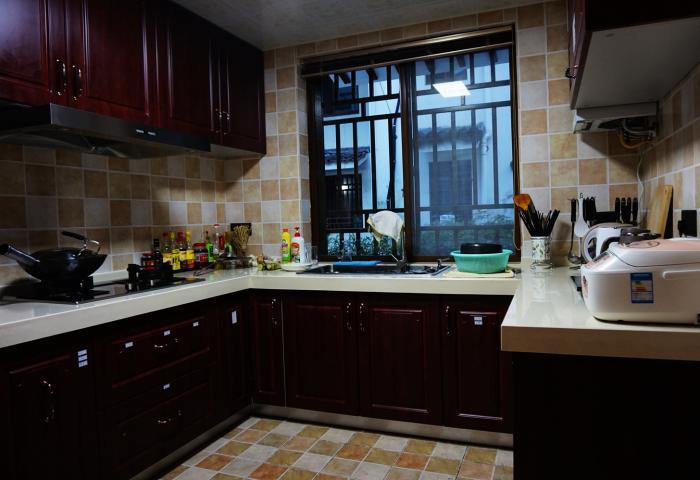 厨房红木装修设计图