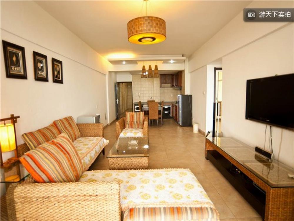 三亚客栈 乐客居海景度假公寓  半岛龙湾小区二室二厅二卫 卧室床型