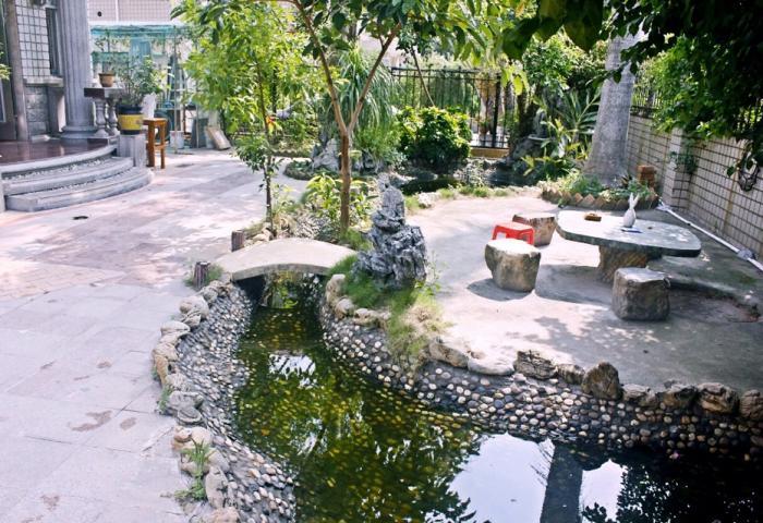 家和圆+别墅庭院小溪流水